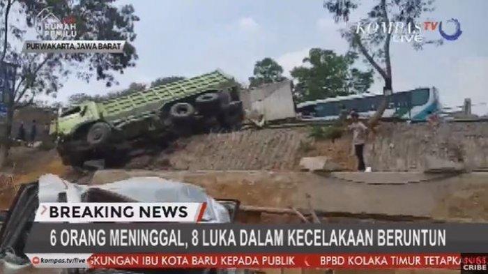 Update Kondisi Sejumlah Mobil yang Terlibat Tabrakan Beruntun di Tol Cipularang, 6 Tewas 8 Luka