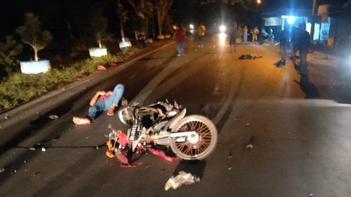 Kecelakaan Kalsel, Adu Kuat di Jalan Bahaudin Musa Marabahan, Satu Pengendara Sepeda Motor Tewas