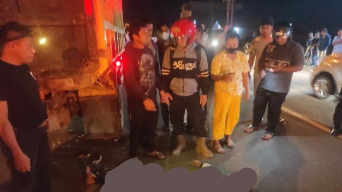 Kecelakaan di Kalsel, Warga Sarigadung Tanahbumbu Tewas Setelah Tabrak Belakang Dump Truk
