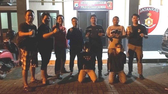 Aksinya Membobol Kios Ponsel Terekam CCTV, Dua Pencuri HP di Tanbu Diringkus Polisi