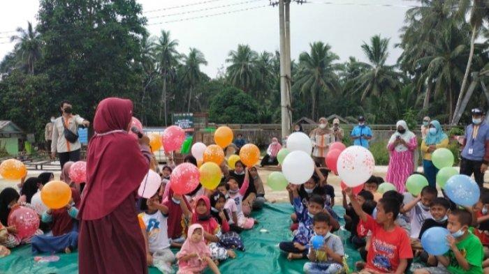 UPZ Al Khair dan Tim Trauma Healing di Desa Bulayak Hantakan HST, Temukan Kisah Miris Bocah SD Ini