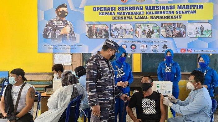Siapkan 376 Dosis, TNI AL Banjarmasin Gelar Vaksinasi di TPI Banjar Raya
