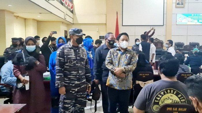 Gelar Operasi Serbuan Vaksin Masyarakat Maritim, Lanal Banjarmasin Siapkan 1.000 Dosis
