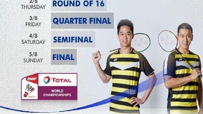 LIVE STREAMING TVRI World Badminton Championship 2018 Kamis 2 Agustus 2018 di TVRI.co.id