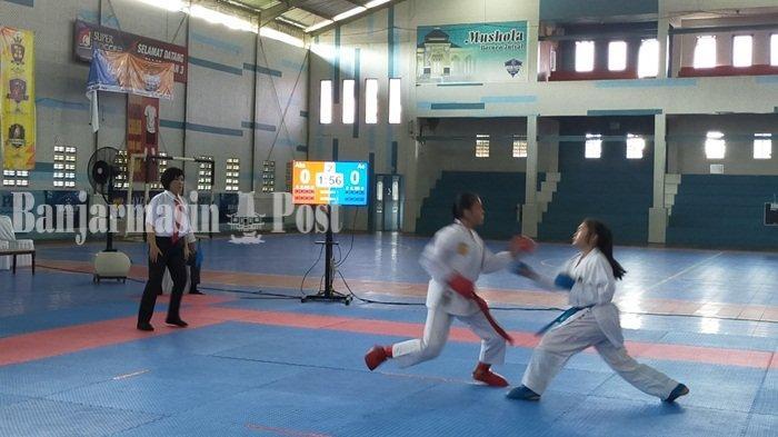 Inkai Kalsel Dominasi Medali Kejurprov Karate Paman Birin Cup 1 Hari Ini, Kuasai Nomor Kata