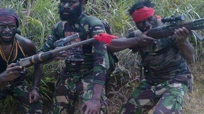 Kelompok Kriminal Bersenjata (KKB) Papua.