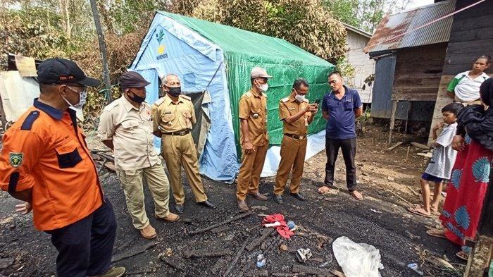 Empat Rumah Terbakar di Kabupaten Balangan, Korban Tak Sempat Selamatkan Harta