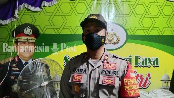 Petugas Pos Pengamanan Binuang Kabupaten Tapin Perketat Pemeriksaan Terhadap Pengendara