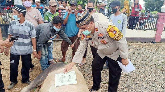 Idul Adha 2021, Polsek Martapura Barat Kalsel Bagikan Daging Kurban kepada Warga