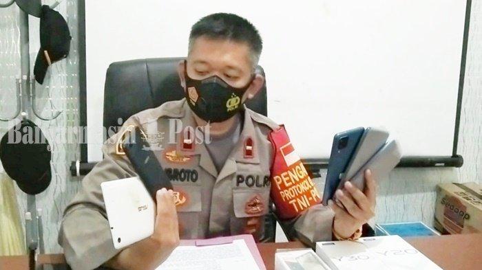 Penggondol 5 Ponsel Diamankan Polsek Tapin Utara di Rantau Kanan Kalsel