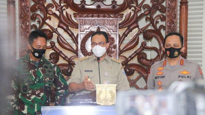 Kepala Staf TNI Angkatan Darat (KSAD), Jenderal TNI Andika Perkasa dan Wakil Kepala Kepolisian Negara Republik Indonesia (Wakapolri), Komjen Gatot Eddy Pramono mendatangi Gubernur DKI Jakarta Anies Baswedan pada Selasa (18/8/2020).