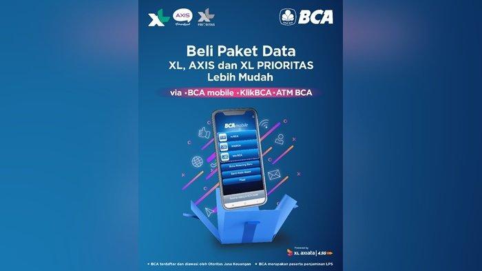 XL Axiata Jalin Kerja Sama dengan Bank BCA untuk Permudah Pelanggan Beli Paket Data