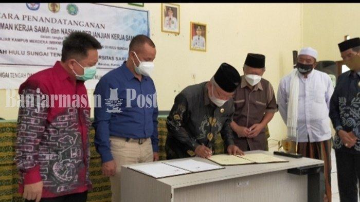 Tiga Universitas di Kalimantan Bantu Pemulihan Pasca Bencana di Kabupaten HST