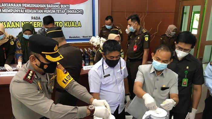 Musnahkan Sabu dan Obat-obatan, DPRD Batola Apresiasi Kinerja Kejari dan Penegak Hukum