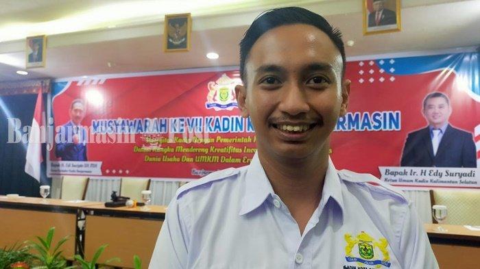 Ketua Kamar Dagang dan Industri (Kadin) Kota Banjarmasin, M Akbar Utomo Setiawan.