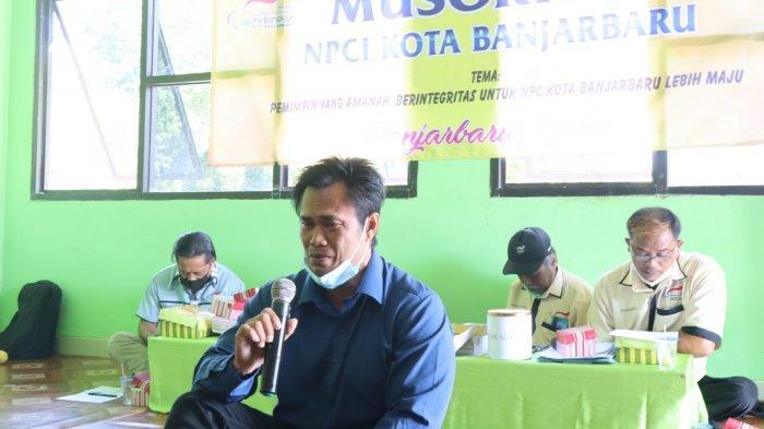 Atlet NPC Kalsel ini Tak Kuasa Menahan Air Mata Setelah Terpilih sebagai Ketua NPC Kota Banjarbaru
