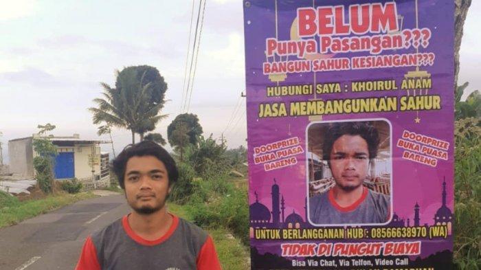 Buka Jasa Bangunkan Sahur 1 Bulan Penuh, Pria Magelang Ini Jadi Viral di Awal Ramadhan 1442 H