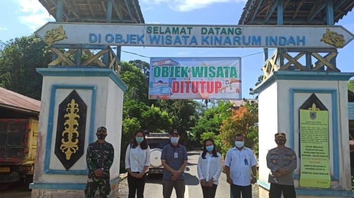 Camat Upau Tabalong Rofiq Azidin memastikan tempat wisata Kinarum Indah sudah ditutup, Kamis (13/5/2021)
