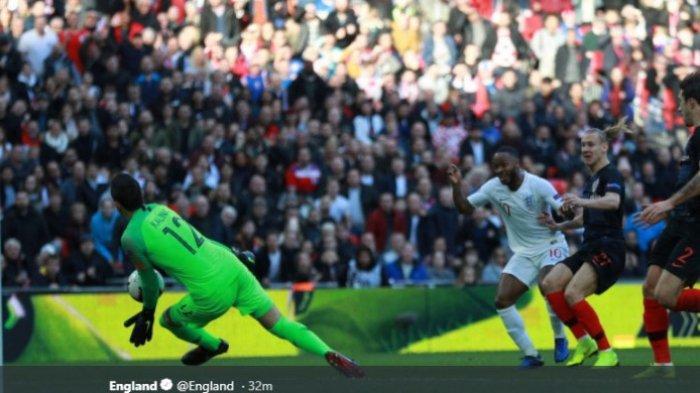 Hasil Inggris vs Kroasia UEFA Nations League 2018, Skor 0-0 Babak Pertama, Kiper Kroasia Brilian