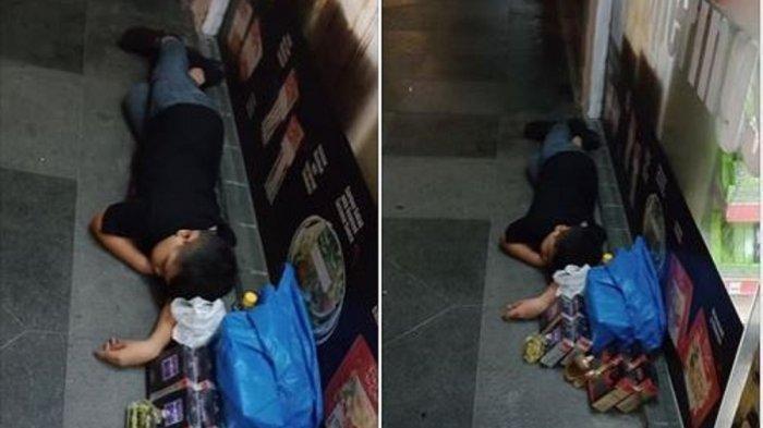 Viral di Medsos, Bocah Penjual Parfum Ini Tertidur di Trotoar, Bila Tak Laku Bakal Disiksa Ayahnya