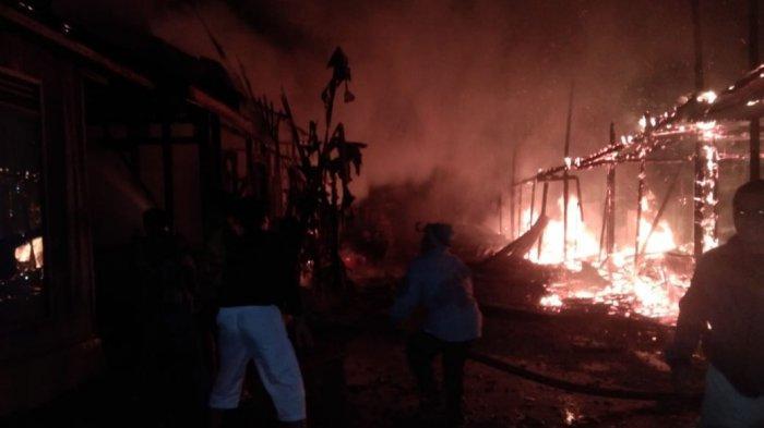 Dinihari, Api Hanguskan Dua Rumah dan Satu Bangsau di Lokbatu, Balangan Kalsel