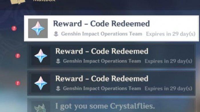 Kode redeem terbaru Genshin Impact, total hadiah hingga 300 Primogems