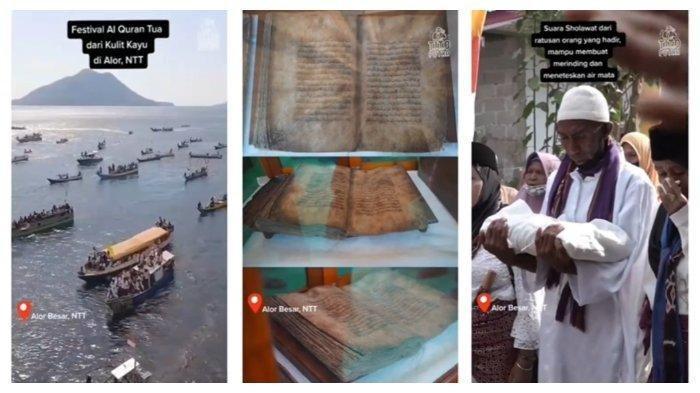 Video Festival Alquran Tertua di NTT Jadi Viral, Kondisi Al Quran 1.500 Tahun Bikin Takjub