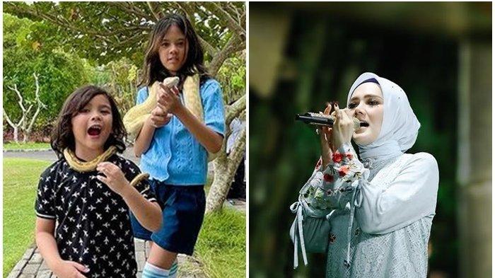 Lihat Ali dan Safeea Dililir Ular Piton, Mulan Jameela Beri Peringatan pada 2 Anak Ahmad Dhani