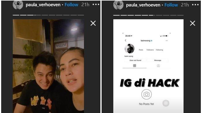 Akun Ig Baim Wong Diretas Instagram Paula Verhoeven Banjir Pengaduan Warganet Kena Tipu Banjarmasin Post