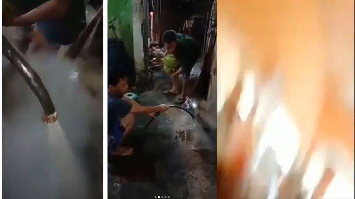 Detik-detik Dua Pria Terbakar saat Keluarkan Isi LPG 3 Kg Berisi Air, Vidoenya Viral, Ini Faktanya