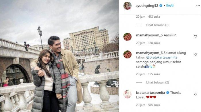 Komentar Brata Kartasasmita di postingan Ayu Ting Ting