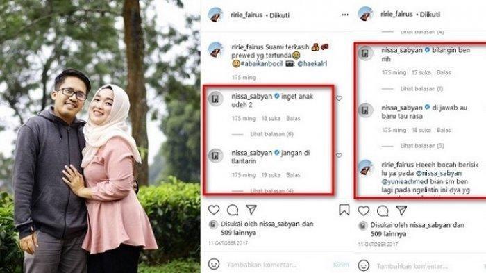 Komentar Nissa Sabyan di Instagram Ririe Fairus