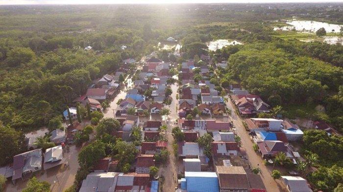 Banjir di Kabupaten Tapin, Ratusan Rumah di Kecamatan Lokpaikat dan Tapin Utara Terendam