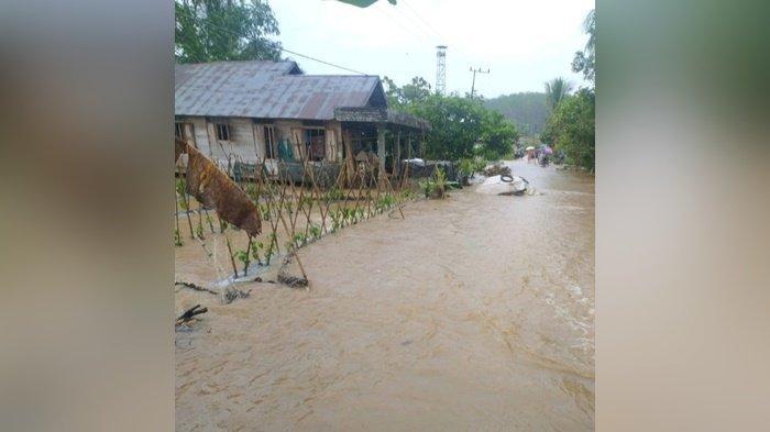 Banjir Kalsel, Dua Desa di Kecamatan Limpasu Kabupaten HST Terendam 2 Jam