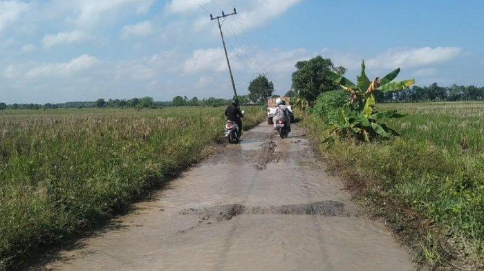 Dinas PUPR Tapin Evaluasi Kerusakan Jalan Rusak Desa Lawahan Tapin Selatan
