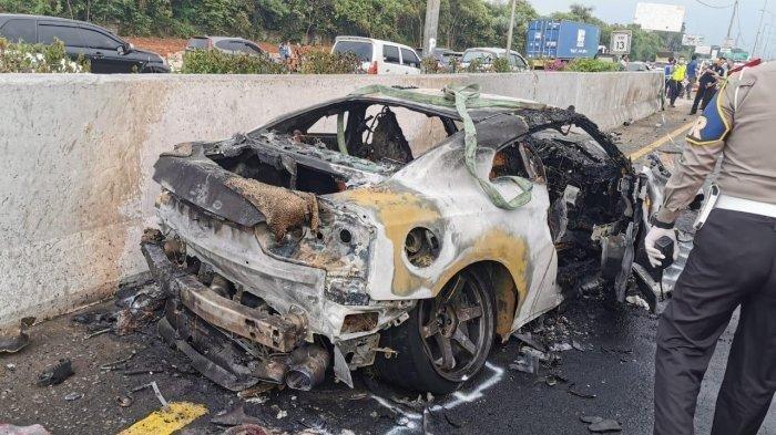 Penampakan Mobil Sport Nissan GT-R Milki Wakil Jaksa Agung, Terbakar 80 Persen
