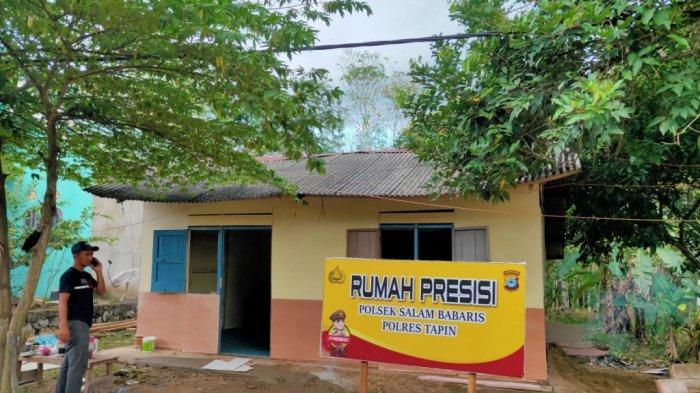 Setelah Dibedah Polsek Salam Babaris, Begini Kondisi Rumah Janda Lansia Desa Pantai Cabe Tapin