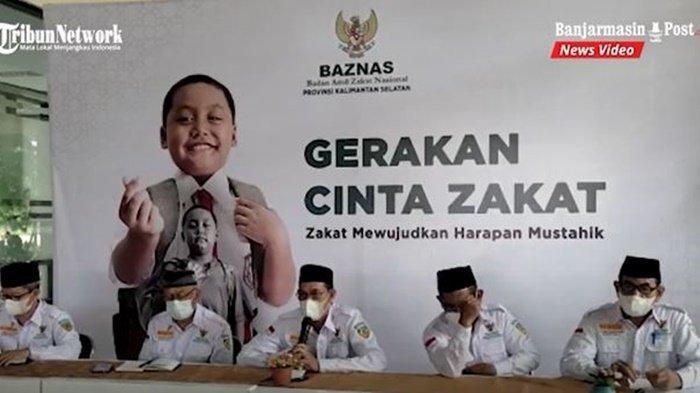 Konfrensi jajaran Baznas Kalimantan Selatan di Banjarmasin, terkait kegiatan menghimpun dan menyalurkan hewan kurban Idul Adha 1442 H, Rabu (7/7/2021).