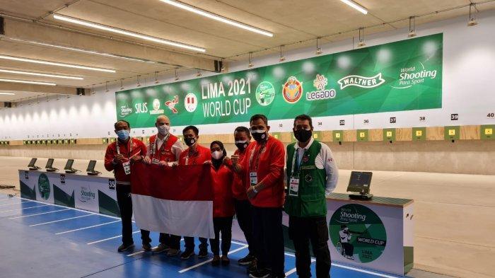 dr Ferry Dampingi Penembak NPC Indonesia Berlaga di World Cup Para Shooting di Peru