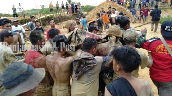 BREAKING NEWS : Longsor di Pumpung Cempaka Banjarbaru,  5 Orang Dilaporkan Tertimbun