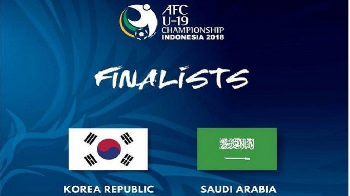 Jadwal Siaran Langsung (Live) Fox Sports Korea Selatan vs Arab Saudi di Final Piala AFC U-19 2018
