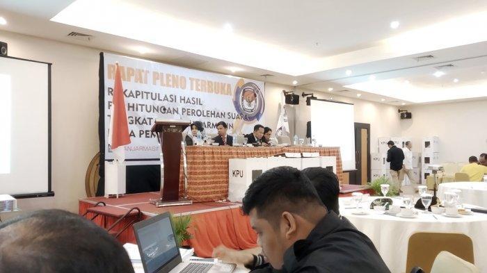 KPU Kota Banjarmasin Laksanakan Pleno Terbuka Rekapitulasi Suara Pemilu 2019