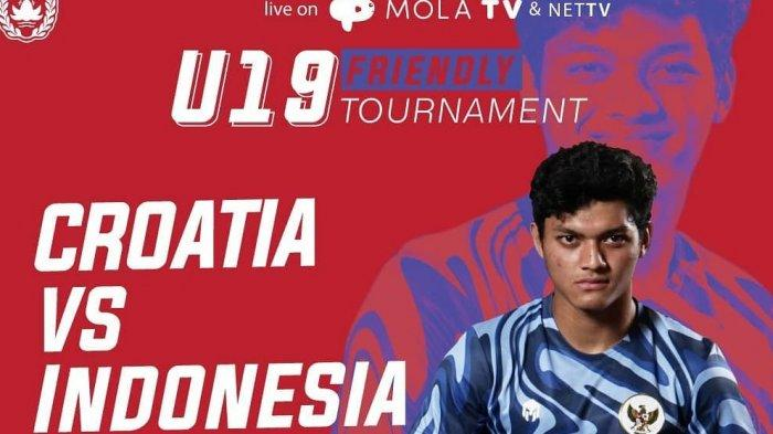 Live Streaming TV Online www.mola.tv: Kroasia vs Timnas U19 Indonesia, Live Net TV Berlangsung