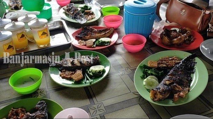 Kuliner Kalsel, Sedapnya Ikan Bakar di Rumah Makan Tepi Danau PTPN Pelaihari
