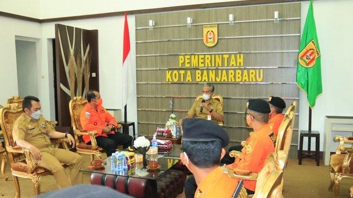 Kunjungi PLh Wali Kota Banjarbaru, Kepala Basarnas Banjarmasin Siap Beri Pelatihan Rescue