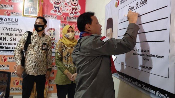 Ketua Bawaslu RI Turun ke HST Kalsel, Pantau Verifikasi Faktual