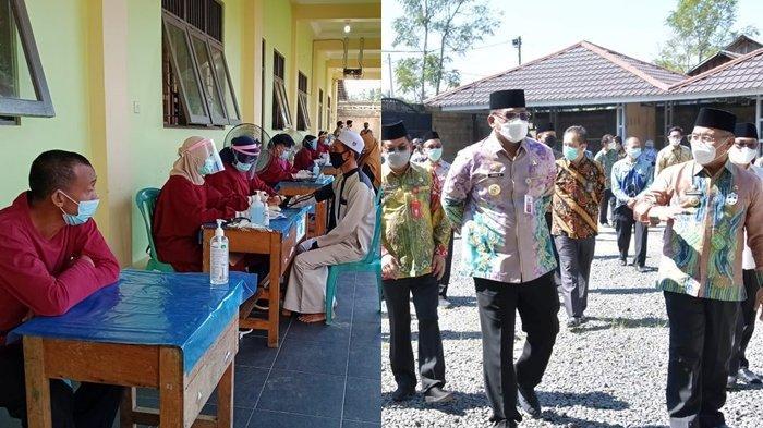 Pj Gubernur Kalsel Pantau Vaksinasi Covid-19 Tenaga Pendidik di HSS