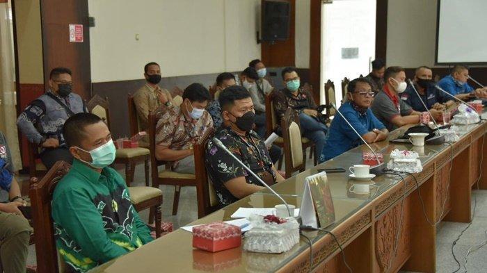 Kunjungan Setwan Kalimantan Selatan ke Setwan Kalimantan Tengah, Senin (5/4/2021).