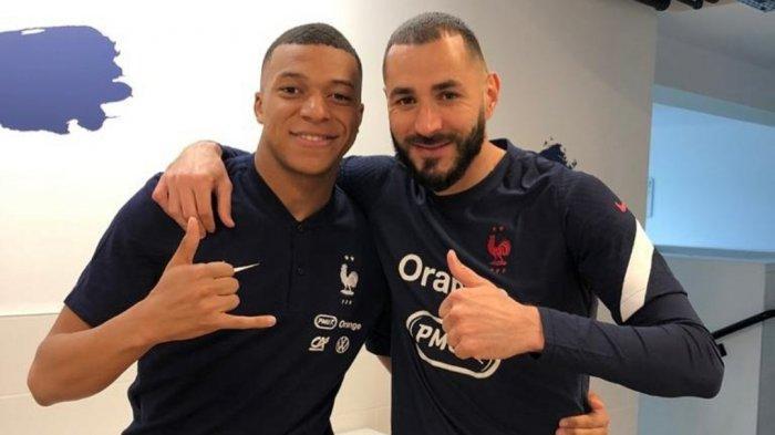 Kylian Mbappe dan Karim Benzema di Timnas Prancis untuk Euro 2020