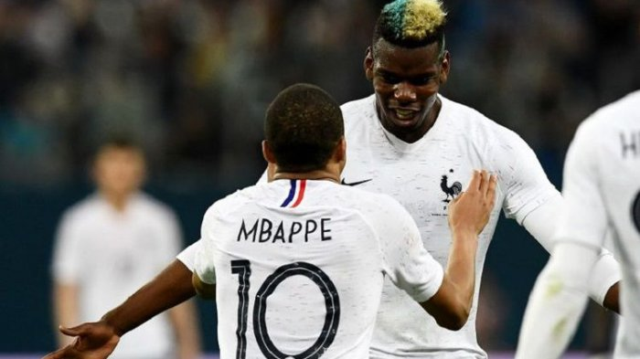 Jelang Final Piala Dunia 2018 antara Prancis Vs Kroasia, Paul Pogba Puji Kylian Mbappe